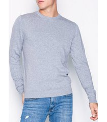 jack & jones jjebasic knit crew neck noos tröjor ljus grå