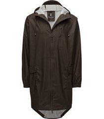 parka coat regenkleding bruin rains