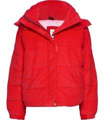 puffer jacket fodrad jacka röd lee jeans
