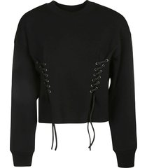 chloé lace-sided plain sweater
