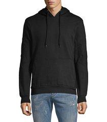 basic seamed hoodie