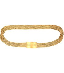 chanel pre-owned buckle charm bracelet - gold