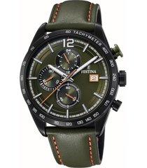reloj chrono sport verde oscuro festina