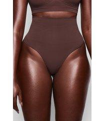 plus size women's skims core control thong, size 4x/5x - brown