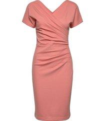 ava ecovero dress knälång klänning rosa residus