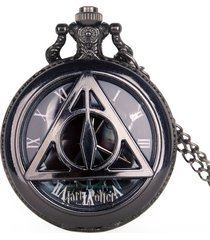 reloj bolsillo cuarzo reliquias de la muerte d022
