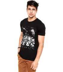 camiseta nicoboco beatles austronaut preta - preto - masculino - dafiti