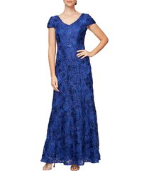 women's alex evenings embellished lace gown