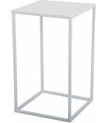 kwietnik metalowy stojący loft 40 cm biały