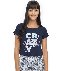 camiseta descanso mujer crazy