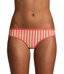 striped bikini bottom