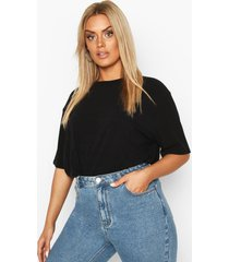 plus soft rib oversized t-shirt