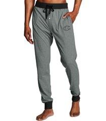 champion men's cotton colorblocked jogger pajama pants