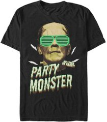universal monsters men's frankenstein party monster short sleeve t-shirt