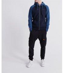 superdry men's orange label classic raglan zip hooded sweatshirt