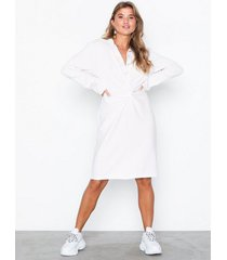 nly trend shirt knot dress loose fit dresses