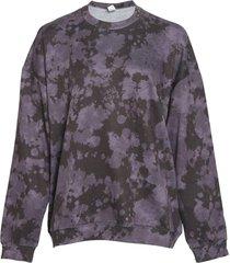 onzie women's boyfriend sweatshirt - amethyst tie dye