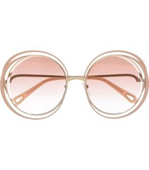 chloé eyewear carlina sunglasses - neutrals