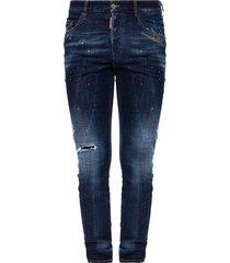 skater jean jeans met rauwe rand