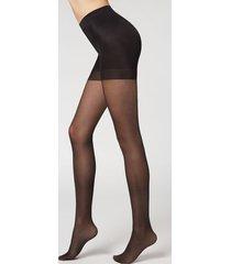 calzedonia 30 denier total shaper sheer tights woman black size xl