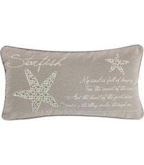 "levtex kailua starfish script pillow, 12"" x 14"""