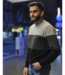 sweater gris redskin tricolor