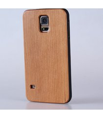 natural cherry wooden wood  blank  for samsung galaxy s5 s6 s7 phone case cover