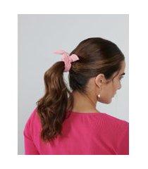 amaro feminino scrunchie camurça colors, rosa