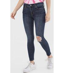 calã§a jeans gap jegging kristin azul-marinho - azul marinho - feminino - algodã£o - dafiti