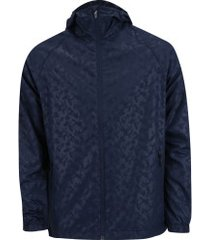 jaqueta com capuz oxer camuflada heat - masculina - azul escuro