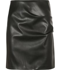 patou iconic faux leather skirt