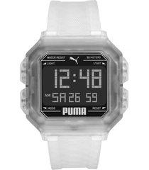 reloj fashion transparente puma