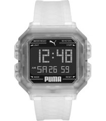 reloj fashion transparente puma
