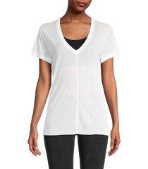 helmut lang women's v-neck short-sleeve t-shirt - black - size s