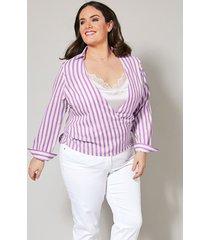 2-in-1-blouse sara lindholm paars