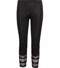 agnes 3/4 legging leggings svart cream
