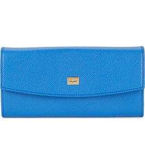 score pebbled leather long wallet