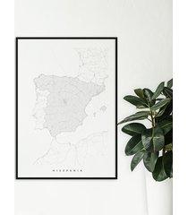 hiszpania - mapa hiszpanii - plakat