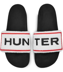 men's original terry towelling logo adjustable slides