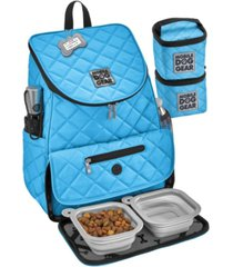 mobile dog gear weekender backpack set, 7 piece