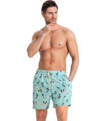 masculino swimwear pantaloneta azul leo 505028n