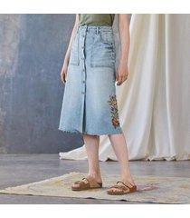 driftwood women's carrie blooms skirt in forsynthia 32