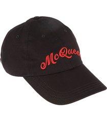 alexander mcqueen mcqueen embroidered cap