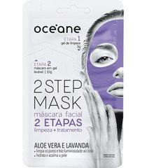máscara facial 2 step aloe vera 13g - océane único