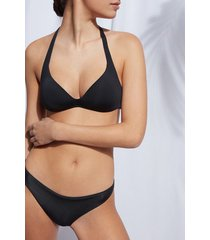 calzedonia graduated triangle swimsuit top indonesia eco woman black size 2