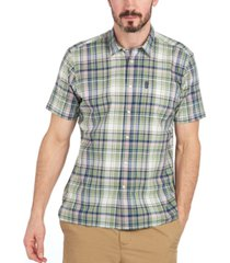 barbour men's madras short sleeve shirt