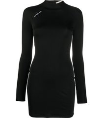 1017 alyx 9sm long sleeved tech dress - black
