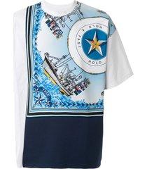 yoshiokubo short sleeve ship scarf t-shirt - white
