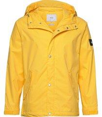 region jacket regenkleding geel makia
