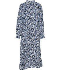 carli dress knälång klänning blå nué notes